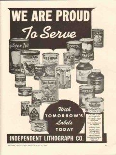 independent lithograph company 1946 tomorrows labels today vintage ad
