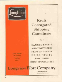 longview fibre company 1946 corrugated shipping containers vintage ad