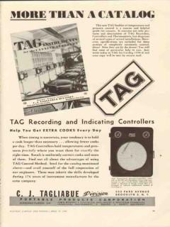 portable products corp 1946 c j tagliabue tag recording vintage ad