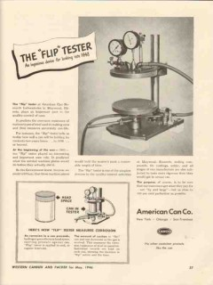 american can company 1946 the flip tester corrosion device vintage ad