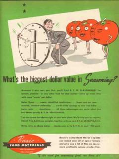 basic food materials 1946 biggest dollar value seasoning vintage ad
