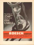 louis roesch company 1946 time final test of fine labels vintage ad