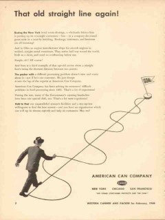 american can company 1946 that old straight line again vintage ad