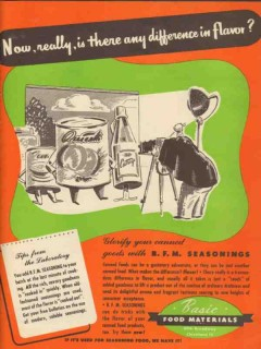basic food materials 1946 is there any difference in flavor vintage ad