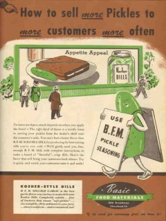 basic food materials 1946 sell more pickles customers often vintage ad
