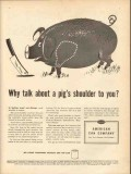 american can company 1946 why talk about a pigs shoulder vintage ad