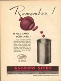 associated seed growers inc 1946 remember red beet label vintage ad