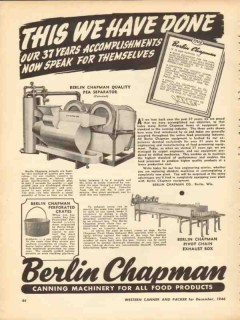 berlin chapman company 1946 this we have done 37 years vintage ad
