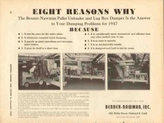 benner nawman inc 1946 eight reasons why pallet unloader vintage ad