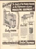 berlin chapman company 1946 quality food process equipment vintage ad