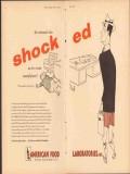 American Food Laboratories Inc 1951 Vintage Ad Ice Cream Shocked