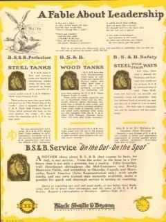 Black Sivalls Bryson Inc 1931 Vintage Ad Oil Tank Fable Leadership