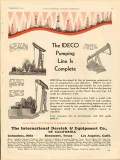 International Derrick Equipment Company 1931 Vintage Ad Pumping Line