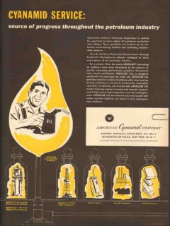 American Cyanamid 1953 Vintage Ad Source Progress Petroleum Industry