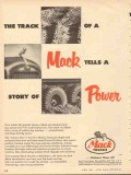 mack trucks 1953 six wheeler track tells a story of power vintage ad