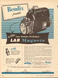 bendix aviation corporation 1953 scintilla lar magneto vintage ad