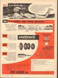 American Pipe Construction Company 1953 Vintage Ad Modern Operation