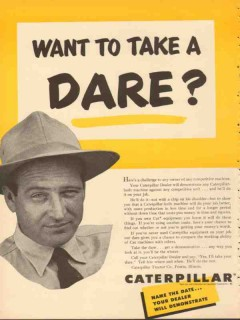 caterpillar tractor company 1953 want to take a dare vintage ad