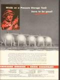 Chicago Bridge Iron Company 1953 Vintage Ad Oil Welds Storage Tanks