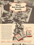 Lone Star Cement Corp 1953 Vintage Ad Oil Field Not-So-Small Details