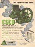 Continental Supply Company 1953 Vintage Ad Oil CSCO Pumping Engines