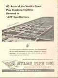 Atlas Pipe Inc 1953 Vintage Ad Finish Facilities Devoted Specification