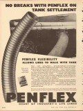 Pennsylvania Flexible Metallic Tubing 1953 Vintage Ad Oil No Breaks