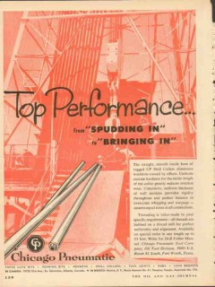 Chicago Pneumatic Tool Company 1953 Vintage Ad Oil Top Performance