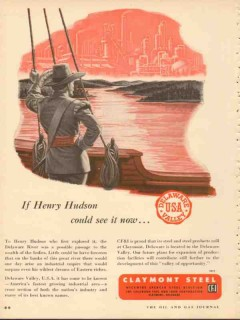 claymont steel 1953 henry hudson could see delaware valley vintage ad