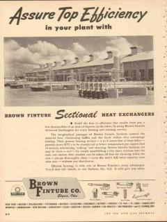 Brown Fintube Company 1953 Vintage Ad Oil Assure Top Efficiency Plant