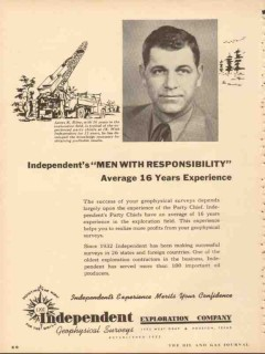 Independent Exploration Company 1953 Vintage Ad Oil James K Riley