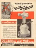 Philadelphia Gear Works 1953 Vintage Ad Oil Field Pushing Button Safer