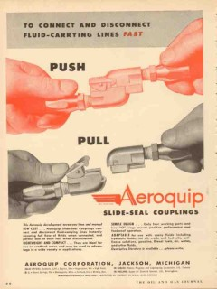 aeroquip corp 1953 connect disconnect fluid carrying lines vintage ad