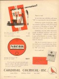 Cardinal Chemical Inc 1953 Vintage Ad Corrosion Nocor What Price