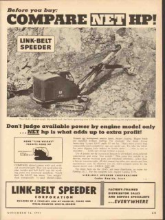 link-belt speeder corp 1953 before you buy compare net hp vintage ad