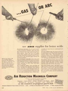air reduction magnolia company 1953 gas or arc airco welds vintage ad