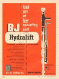 Byron Jackson Company 1953 Vintage Ad Oil High Lift Low Cost Hydralift