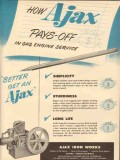 Ajax Iron Works 1953 Vintage Ad Drilling Pays Off Gas Engine Service