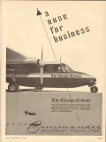 aero design engineering 1953 chicago tribune commander vintage ad