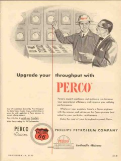 Phillips Petroleum Company 1953 Vintage Ad Perco Upgrade Throughput