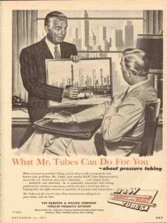 Babcock Wilcox Company 1953 Vintage Ad Oil What Tube Can Do For You