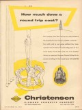 Christensen Diamond Products Company 1953 Vintage Ad Oil Round Trip