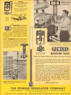 Powers Regulator Company 1953 Vintage Ad Oil Metaflow Diaphragm Valve