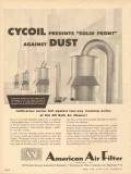 American Air Filter Company 1953 Vintage Ad Solid Front Against Dust
