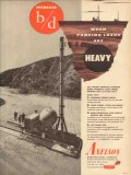 Axelson Mfg Company 1953 Vintage Ad Oil When Pumping Loads Are Heavy