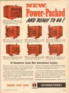 International Harvester Company 1953 Vintage Ad Engines Power-Packed