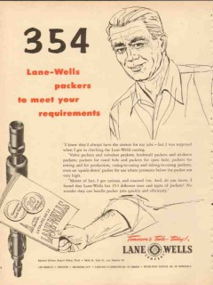 Lane-Wells Company 1953 Vintage Ad Oil Field Packers Meet Requirements