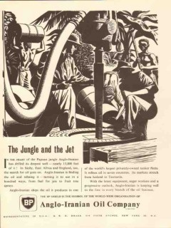 Anglo-Iranian Oil Company 1953 Vintage Ad BP Papau Jungle and The Jet