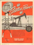Petroleum Electric Power Assoc 1953 Vintage Ad Oil Field More Dollar