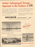 Anchor Petroleum Company 1953 Vintage Ad LPG Underground Storage
